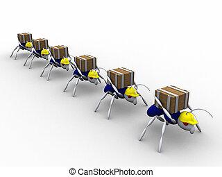 formiga, Trabalhadores, vol, 2
