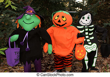 Halloween Friends - Witch, Pumpkin and Skeleton friends...