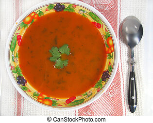 carrot soup - vegetable soup bowl