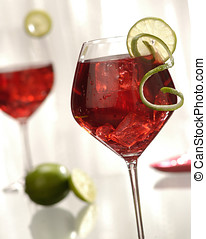 wine cocktails with lime