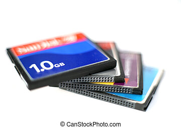 CompactFlash cards 3 - A pile of CompactFlash cards, very...