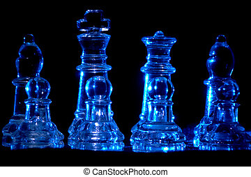 chess - crsytal chess pieces