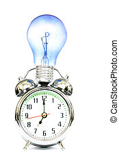 Inspiration - Alarm clock and lightbulb