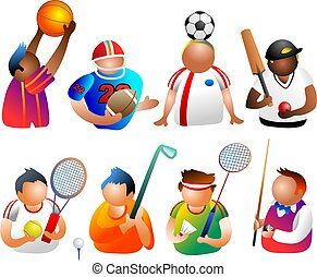 sporty people - icons