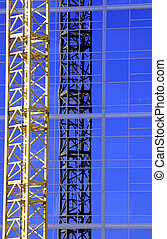 Construction Crane - Construction site- Zoomed in