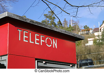 teléfono, cabina