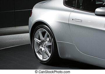 Sports Car Presentation Detail - Detail of sports car,...