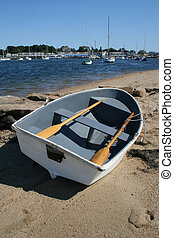 Rowboat - A Rowboat Lies on the Beach