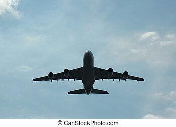 Super Airbus A380 in flight