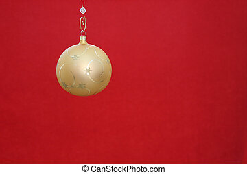 Merry Christmas - Beautiful gold Christmas ornament