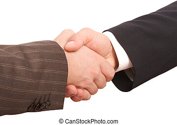 Business handshake - close up