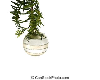 christmas ornament - isolated ornament hanging from pine...
