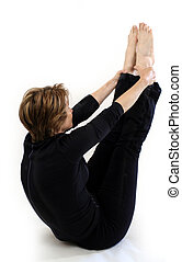 Stretch - woman doing yoga