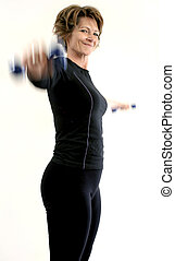 Lifting Weights - woman lifting weights