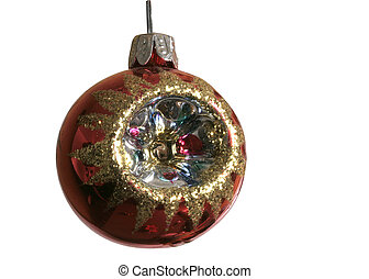 70sball - glass Christmass tree ornament 1970s style