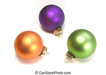 Christmas Ornaments - Photo of three Christmas ornaments...