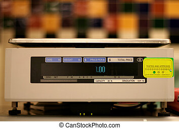 weight scale - Weight scale used in grocery