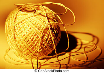 String - Photo of a Ball of String with Creative Lighting