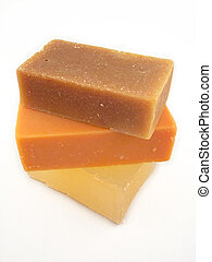 Natural Soaps - 3 bars of natural soap - goat milk, hemp...
