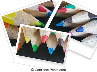 oblong pictures - oblong crayon pictures isolated