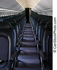 Airline Seats - Blue Empty Airline Seats