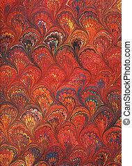 Renaissance/Victorian Marbled Paper 6 - Photo of...