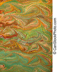 Renaissance/Victorian Marbled Paper 16 - Photo of handmade...