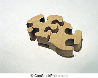 assembled - wooden puzzle