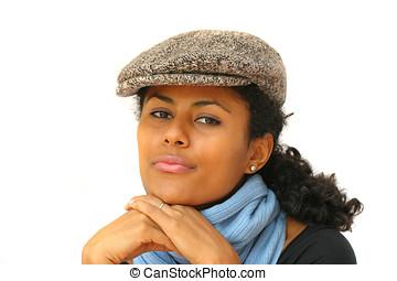 Stylish attitude - Beautiful brazilian woman in winter...