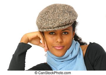 Stylish woman with attitude