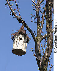 Bird house on a tree Handmade