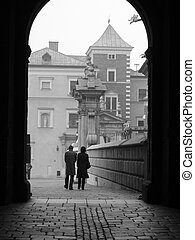 Loving Couple - Photo was taken at Krakov, Poland, October...