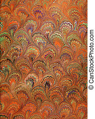Renaissance/Victorian Marbled Paper 9 - Photo of handmade...