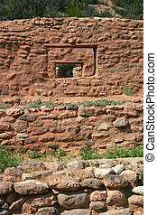 Windows in Windows - A series of windows in ancient mission...