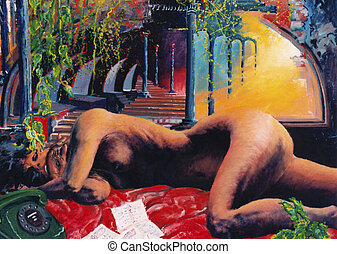 Dreams of one woman - Relaxation - image is handiwork of...