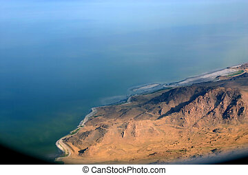 Overlooking at Salt Lake City - Aerial Shot of Salt Lake...