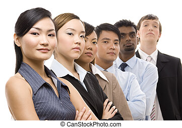 Confident Business Team 3 - A diverse and mixed group of...