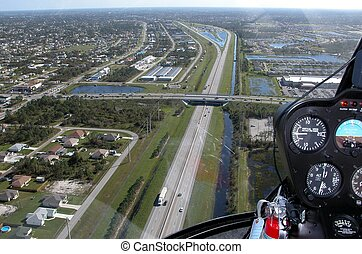 Aerial View - Photographed Florida Turnpike from a...