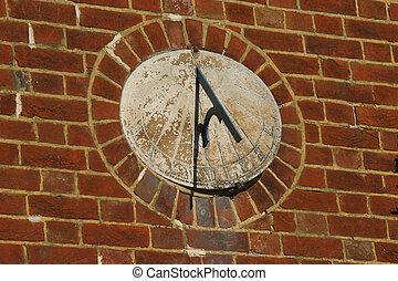 Sun dial - Old sun dial set in brickwork
