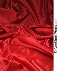Red Satin Fabric 1 - Luxurious red satin folded fabric,...