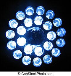 LED flashlight - A 24-LED flashlight turned on