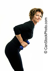 weight exercise - woman doing weight exercise