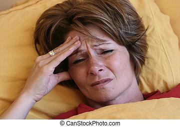 migraine in bed