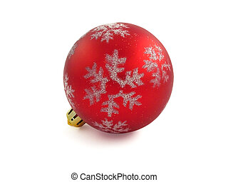 Christmas Ornament 1 - Red Christmas Tree Ornament, with...