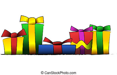 Presents - Vector illustration of presents and gifts