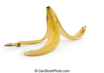 Banana Trap - Banana isolated on white with clipping path....