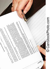 Reading agreement - With pen