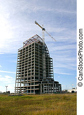 Construction 00208 - High-rise building under construction...