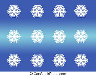 Patterned snow flake