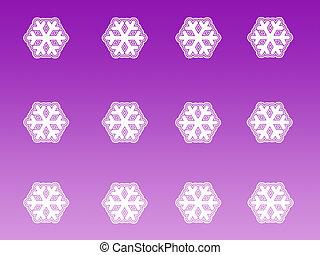 Snow flakes pattern